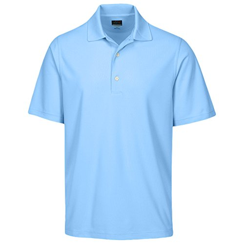 Greg Norman Mens Playdry Protek Micro Pique Polo Light Blue M