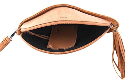 bylin Heliconia 1609 Enveloppes en papier cristal d embrayage / sous en cognac