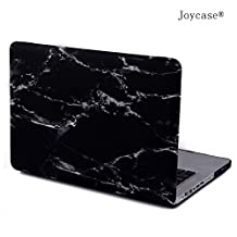 Joycase Marble Macbook Pro 15-inch A1286 No Retina Display Hard Shell Case Smart Cover Black-white Marble Design Rubber Coated Snap-on Premium Quality Plastic Folio Sleeve Case Cover MMP15BK+1