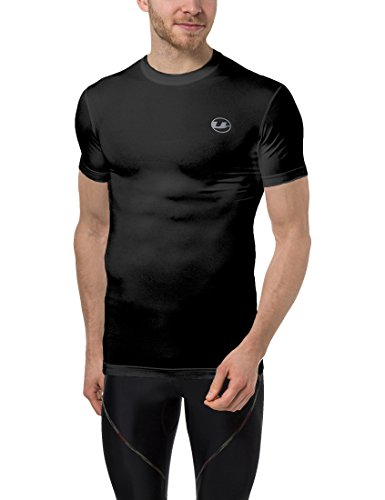 Ultrasport Herren Kompressions T-Shirt Ben, Schwarz, M, 331300000234