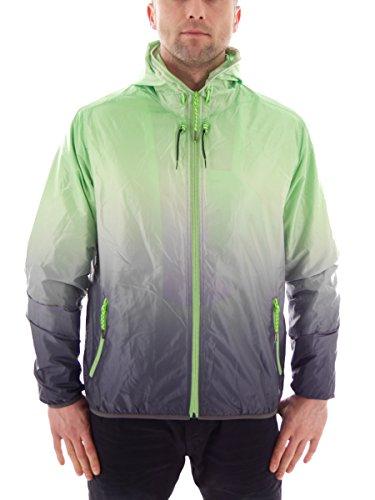 CMP Jacke Sommerjacke Kapuzenjacke Windjacke grün gefüttert Tasche Zip Gr. 50 3D83857