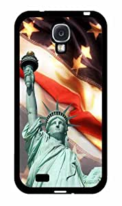 Statue of Liberty American Flag Background - TPU RUBBER SILICONE Phone Case Back Cover Samsung Galaxy S4 I9500