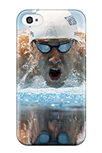 Best 1022881K52222915 New Style Tpu 4/4s Protective Case Cover/ Iphone Case - Michael Phelps Poster