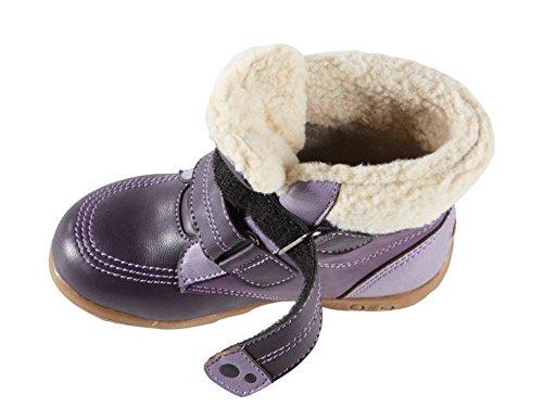 Kleinkinder Mädchen Stiefel 23 24 wählbar violett Halbstiefel Winterstiefel