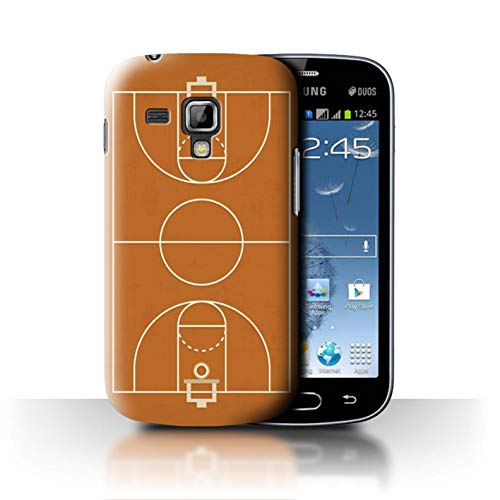 Phone Case for Samsung Galaxy S Duos 2/S7582 American Sports Field/Pitch Basketball Design Transparent Clear Ultra Slim Thin Hard Back Cover