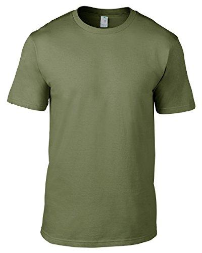 Camiseta Manga Hombre Moss Regular Fit Corta Para Anvil Redondo De 980 Cuello Con 65qw8xFwS