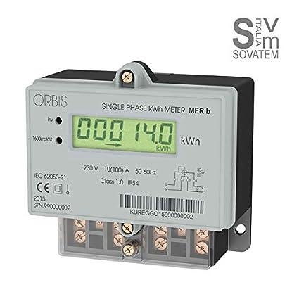 contadores de energía de pared monofásico – Activa – ORBIS Mer B LCD 725001 ...
