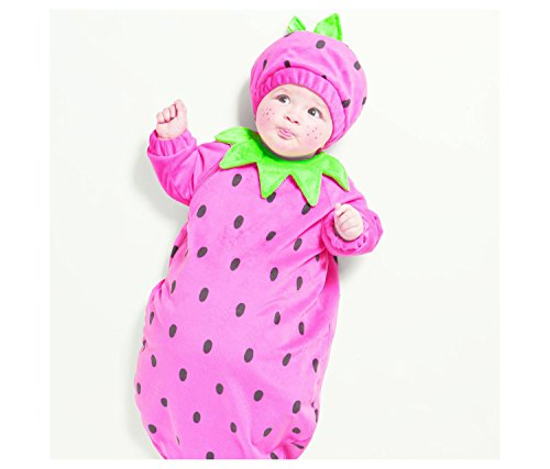 Infant Plush Strawberry Halloween Costume 0-6 Months