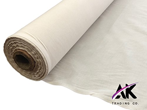 AK Trading 60'' Wide Natural Muslin Fabric, 100% Cotton Fabric, Unbleached 50 Yards by AK TRADING CO. (Image #5)
