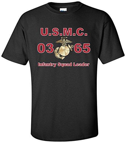 United States Marine Corps MOS 0365 Infantry Squad Leader T-Shirt Black