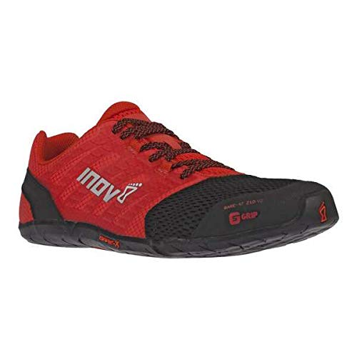 Inov-8 Mens Bare-XF 210 V2 - Barefoot Minimalist Cross Training Shoes - Zero Drop - Wide Toe Box - Versatile Shoe for Powerlifting & Gym - Calisthenics & Martial Arts - Black/Red 10 M US by Inov-8 (Image #1)