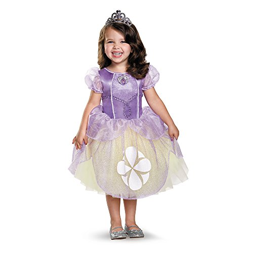 Sophia The First Costumes (Disguise 85630K Sofia Tutu Deluxe Costume, Medium (7-8))