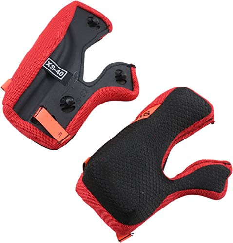 Alpinestars Set +5MM Replacement Cheek Pads Black/Red -