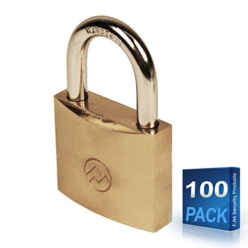 "Mountain Series BP150A 1-1/2"" Wide Keyed Alike Solid Brass Padlocks (Case of 100)"
