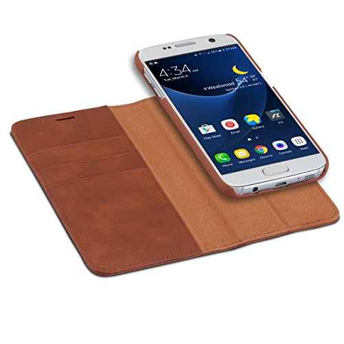 2 in 1 Leather Wallet Flip Cover Case For Samsung Galaxy S7(Brown) - 8