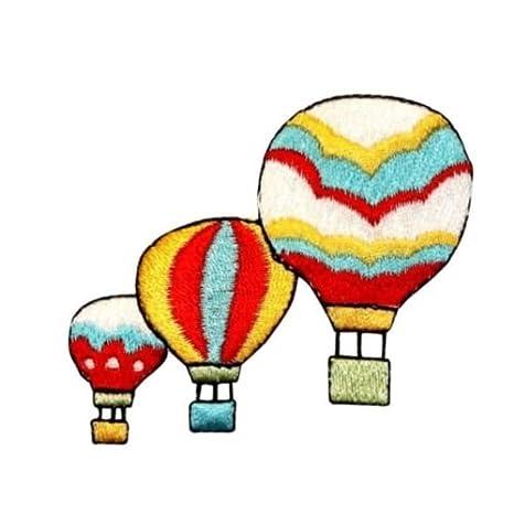 ID 1103 A tres globos de aire caliente parche Festival Ride ...