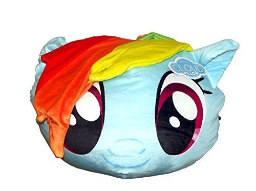 "Price comparison product image Hasbro's My Little Pony, ""Rainbow Dash"" 3D Cloud Pillow, 14"" Round"