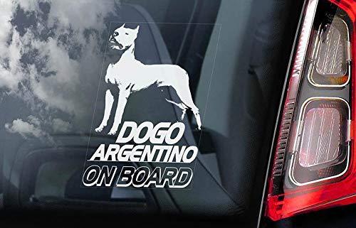 CELYCASY Dogo Argentino a Bordo - Pegatina para Ventana de ...