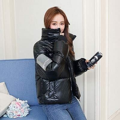 Ropa para mujer Espesa la chaqueta del algodón del invierno abajo cubre mujer de pie casual chaquetas del cortocircuito del cuello caliente coreana femenina Hardy Outwear el tamaño grande de Harajuku: Amazon.es: