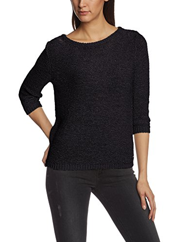 Tom Tailor Denim Tape Yarn Pullover With Bow/412 - Asimétrico Mujer Blau (knitted navy 6800)