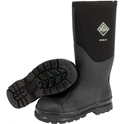Honeywell CHS000A-11 Servus by Size 11 Muck Chore Black 16'' Insulated Neoprene And CR Flex-Foam Boots With Vibram Outsole, Steel Toe, And EVA Sock Liner, English, 15.34 fl. oz., Plastic, 1'' x 1'' x 1''