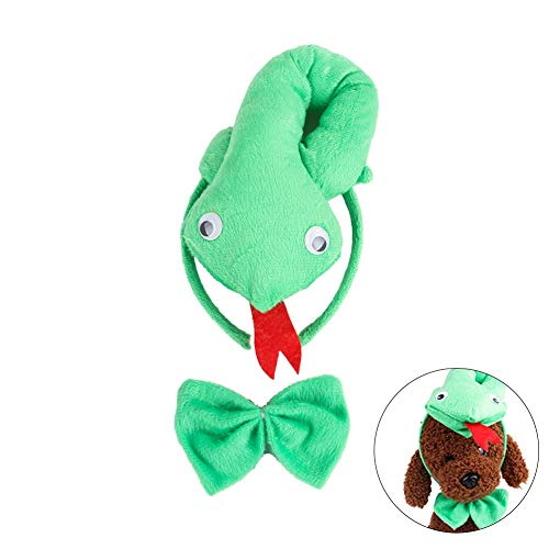 Cute Animals Cosplay Costume Ear Headband Bowtie Dressup Set for Halloween Party Favors(Snake)]()