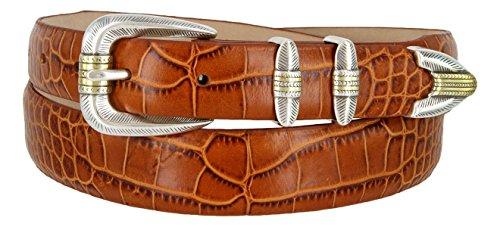 Manila Genuine Italian Leather Designer Dress Golf Belt(Alligator (Calfskin Belt)