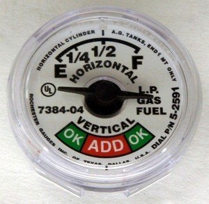 Manchester 5714S02591 7384-04 5-2591 Snap In Propane Sight Gauge Dial Fuel Level