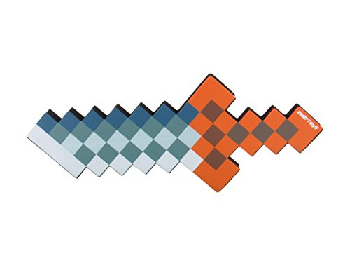 8 Bit Foam Dagger Toy Weapon, Pixelated Iron Blade, 10 inch, EnderToys