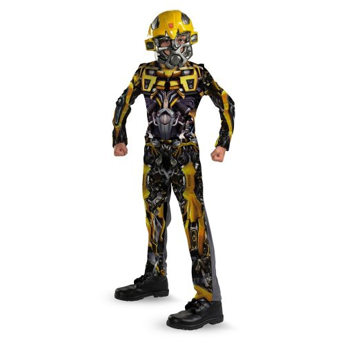 Classic Bumblebee Girls Costumes (Bumblebee Movie Classic Child Costume - Medium (7-8))