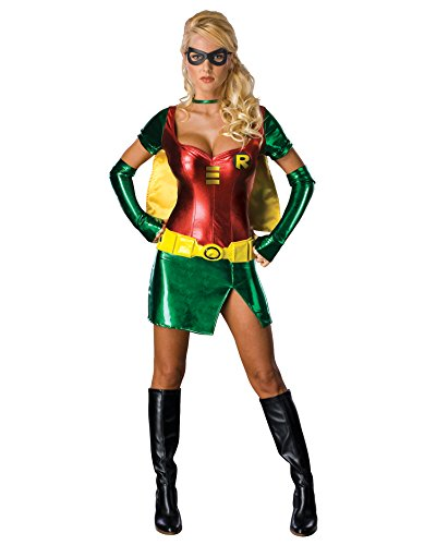 Superhero Costumes For Couples (Batmans Robin Costume Sexy Superhero Costume Sidekick Dynamic Duo Movie Costume Sizes: Medium)