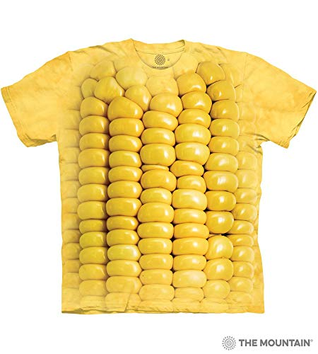 The Mountain Corn On The Cob Adult T-Shirt, Yellow, XL
