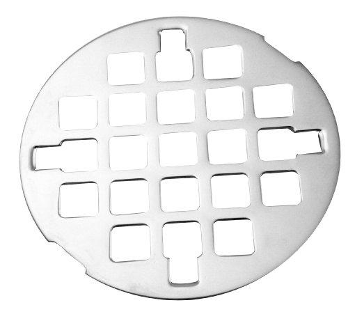 Westbrass D31 Casper Style Snap-In Shower Strainer 3.25-in, PVD Polished Brass (Lifetime Finish) (Shower Drain Brass Casper)