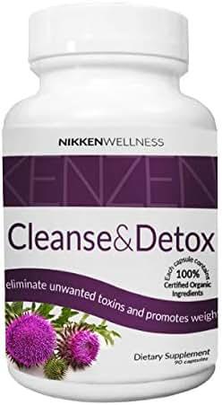 Nikken Kenzen Liver Cleanse and Detox Supplement - 100% Organic Blend Liver Care Health Supplement - Destroy Toxins for Liver Rescue - Liver Detoxifier Regenerator - Uric Acid Cleanse with 90 Capsules