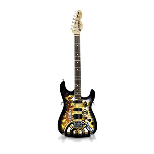 Woodrow Guitar by The Sports Vault NHL Boston Bruins Collectible Mini NorthEnder Guitar