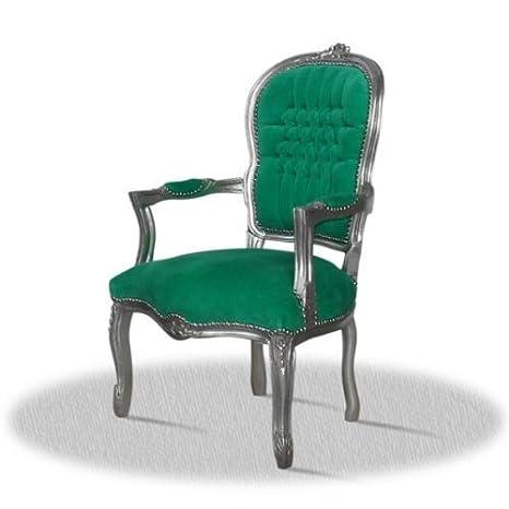 LouisXV Silla barroco, plata golpe, la referencia verde ...