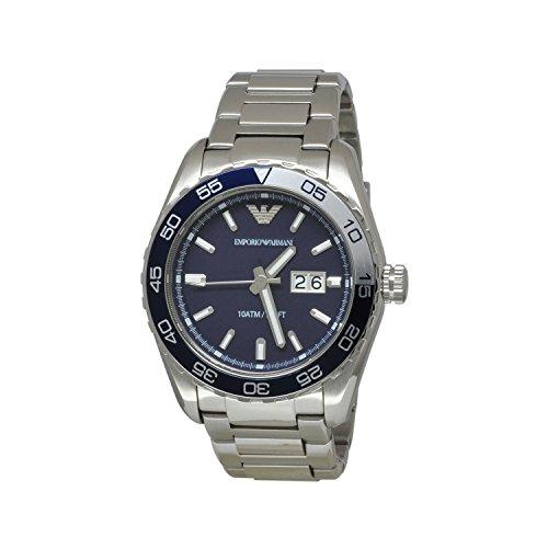 Armani Sportivo Navy Dial Stainless Steel Bracelet Mens Watch AR6048