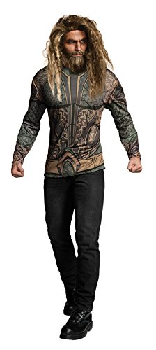 Rubie's Costume Co. Men's Justice League Aquaman Costume Top, As Shown, X-Large