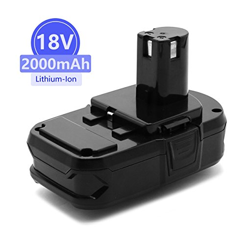 Power-Ing 18V 2000mAh Lithium Ion Replacement Battery for Ryobi ONE Plus P102 P108 P105 P104 P107 P507 P103 P122 P109 RB18L40 ONE+ 18 Volt 2.0AH Cordless Drill Power Tools batteries Pack Parts by Power-Ing