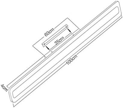 YXZN Badezimmerspiegelleuchte LED Spiegel Scheinwerfer Hotel Badezimmerspiegel Schrank Lampe Wohnzimmer Schlafzimmer Wandleuchte,Weiß,60x9x4.5cm