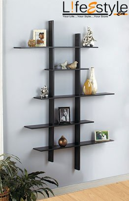 Solid Mango Wood Wall Mounted Book Shelf Display Rack Amazonin
