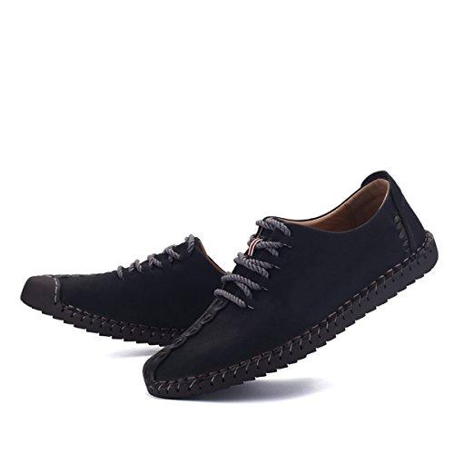 in per in affari mocassini Scarpa pelle pelle uomo stringata i Oxfords scarpa uomo bassa con stile Uomo Gracosy Scarpa lacci Bassa British Scarpe Nero Scarpa Casual XZq5FvZ