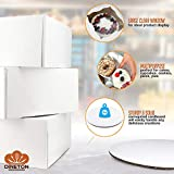 [10 Pack of Each] Cake Boxes Cake Boards Set – 10 Sturdy Cake Boxes 10 x 10 x 5 & 10 Inch Cake Boards - Window Cardboard Cake Boxes - Ten Round Cake Boards in Set