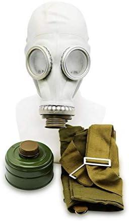 Oldshop Juego de máscaras de Gas GP5 - Máscara de Gas Militar Rusa soviética Replica Conjunto de artículos coleccionables con máscara, Bolsa y Filtro: Aspecto auténtico (M)