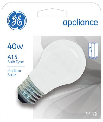40 watt frosted appliance bulb - 5