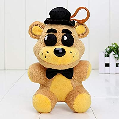 papeo FNAF Plushies 5 inch Small Soft Plush Keychain Figure Toy Mini Stuffed Toys Doll Gift Christmas Halloween Birthday Gifts Cute Collection Collectible Fazbear for Kids Adults: Toys & Games