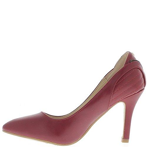 Scarpe rosse con cuciture tagliente di 9cm tacchi sottili