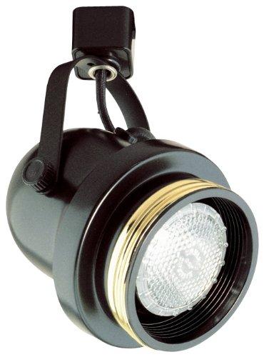 Elco Lighting ET644W Line Voltage PAR30 Classic Round Back Cylinder with Black Baffle (Cylinder Back Par30 Round)