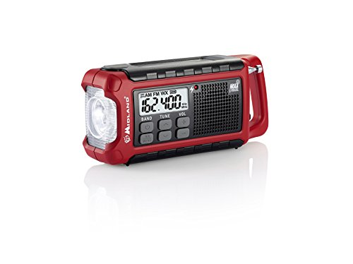 Midland ER200 Emergency AM FM Digital NOAA Weather Radio with Cree LED Flashlight and USB Charger - Stores Mall Midland