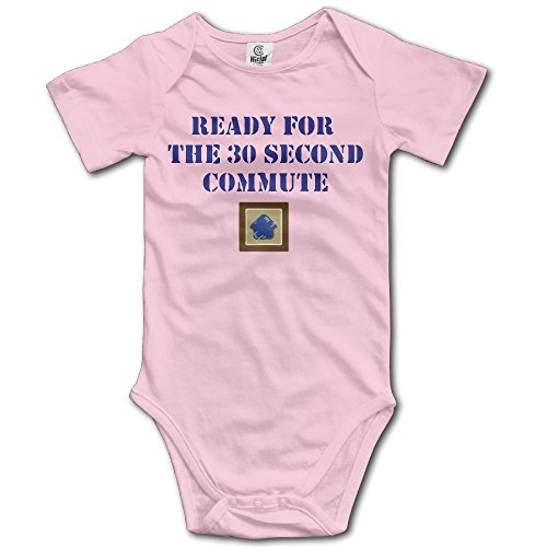 [Ready For The 30 Second Commute Costume Babysuit Infant Short Sleeve Pink] (30 Second Costumes)
